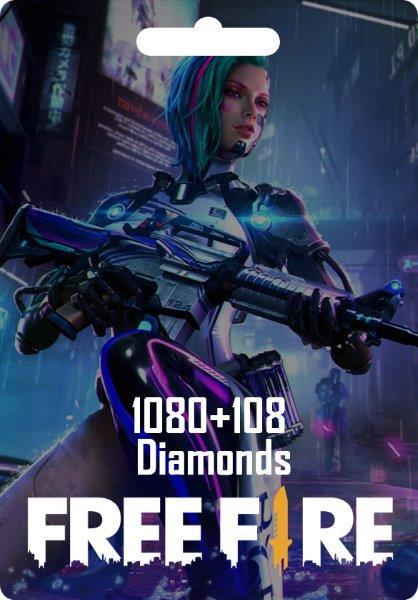 Free Fire 1080 + 108 Diamonds
