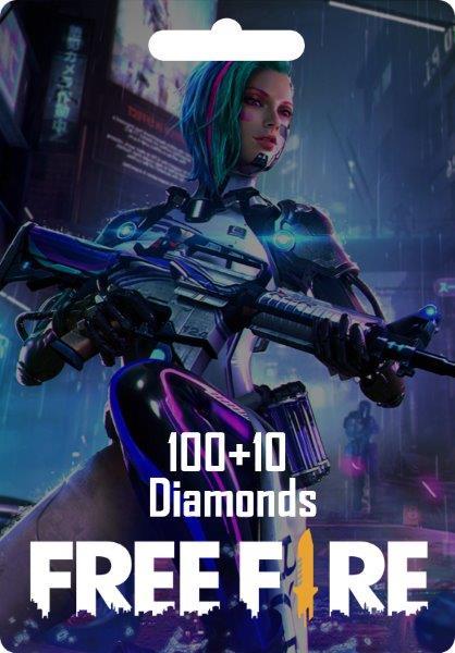 Free Fire 100 + 10 Diamonds