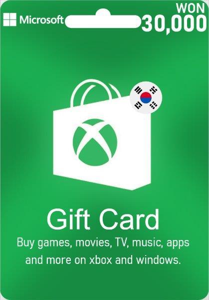 XBox Live Give Card South Korea - 30.000 WON