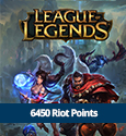Riot Points 6450 RP