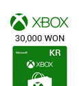Microsoft Points XBox Live Gift Card - 30,000 WON