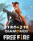 Free Fire 2180 + 218 Diamonds