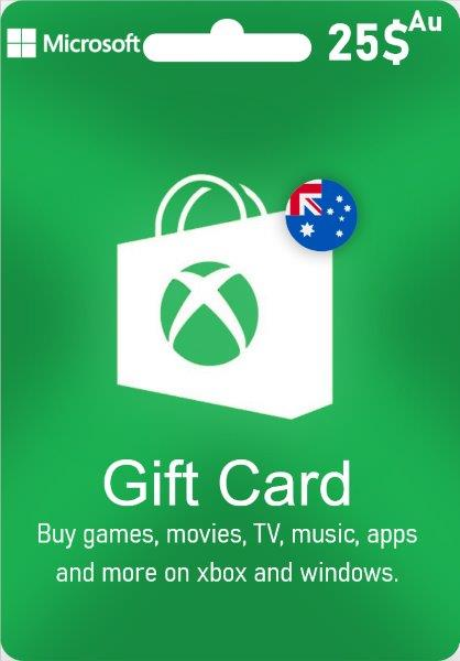 Xbox Live Gift Card Australia - AUD $ 25