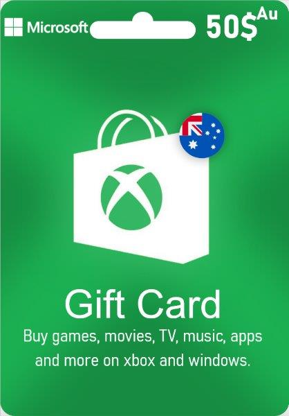 Xbox Live Gift Card Australia - AUD $ 50