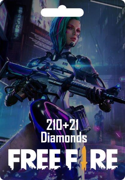 Free Fire 210 + 21 Diamonds