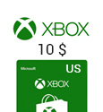 Microsoft Points XBox Live Gift Card - US$ 10