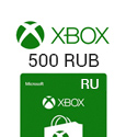 Microsoft Points XBox Live Gift Card 500 RUB
