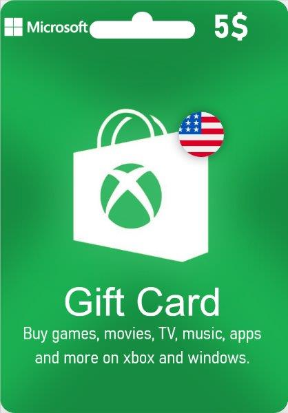 Xbox Live Gift Card - US$ 5