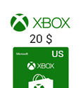 Microsoft Points XBox Live Gift Card - US$ 20