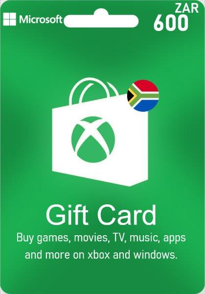 XBox Live Gift Card South Africa - 600 ZAR