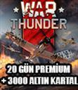 War Thunder - 20 Days Pre + 3000 Golden Eagles