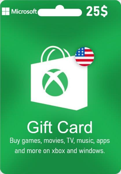Xbox Live Gift Card - US$ 25