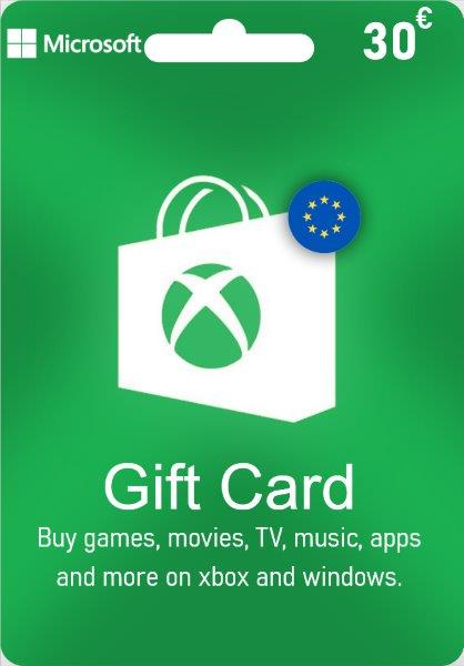 Xbox Live Gift Card EUROPE - € 30