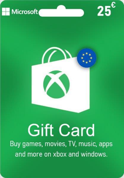 Xbox Live Gift Card EUROPE - € 25