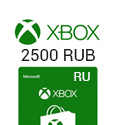 Microsoft Points XBox Live Gift Card 2500 RUB